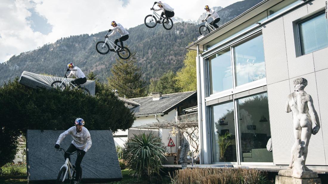 Fabio Wibmer swaps mountains for stunts in the washing machine during shutdown
