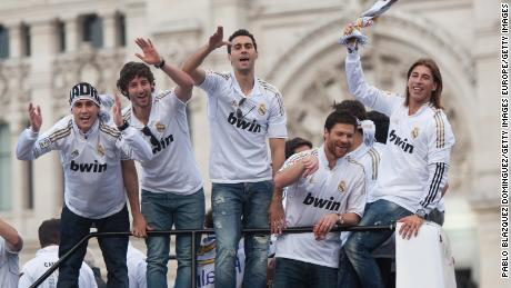 Real Madrid celebrates the League victory in 2012.