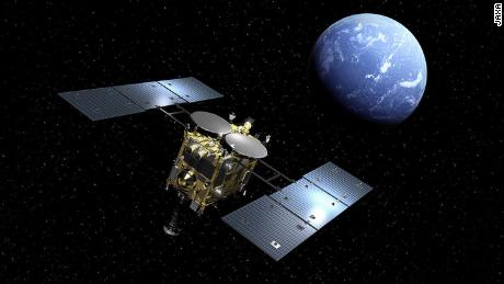 A Japanese spacecraft returns to Earth with samples from a nearby asteroid