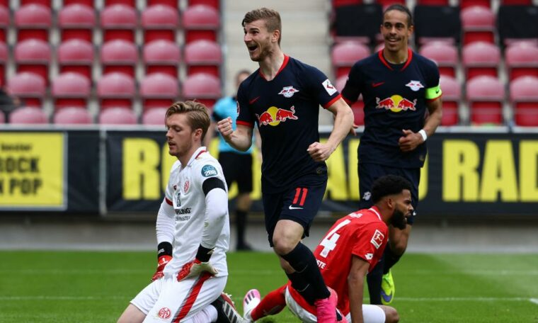 Werner's Leipzig inflicts further distress on local teams in Bundesliga return
