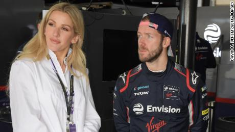 Goulding with Envision Virgin Racing driver Sam Bird in Marrakech.