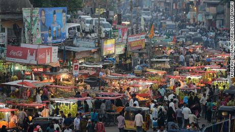 The ancient city of Hyderabad, the capital and largest city of the southern Indian state in Andhra Pradesh.