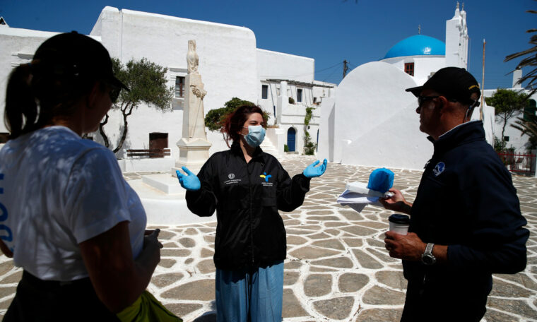Doctors use GPS, boats to detect viruses on the Greek islands
