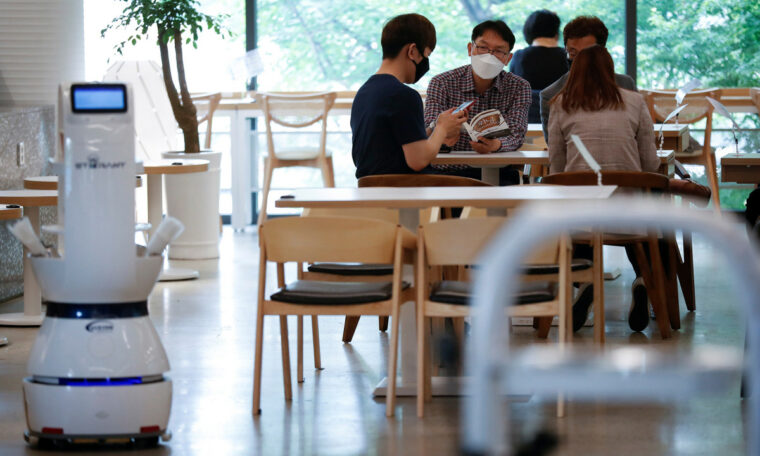 South Korean cafe hires a barista robot to help with social distancing