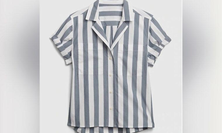"This Gap ""camp shirt"" looks like an Auschwitz uniform"