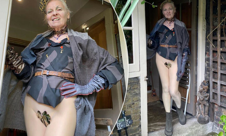 Vivienne Westwood, 79, uses crotch sheets for climate change