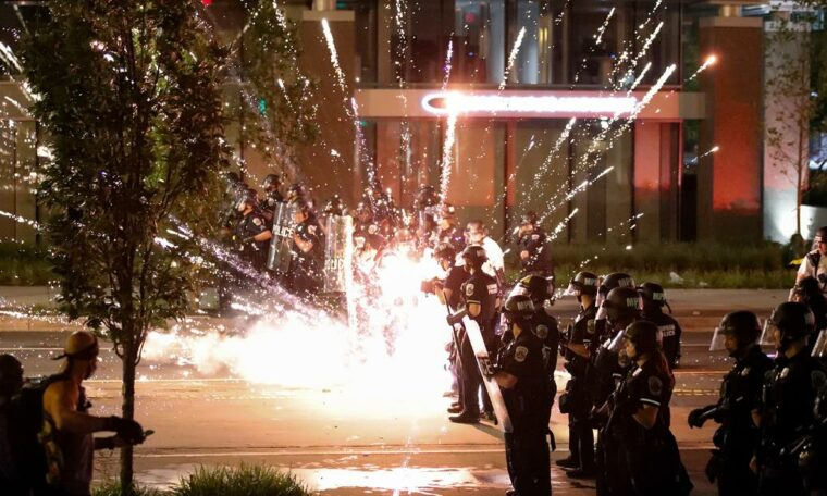 """Protests in DC: Mayor urges """"calm"""" after protests erupted near the White House for the second night in a row"""