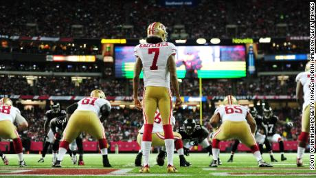 Kaepernick played for the 49ers for six years.