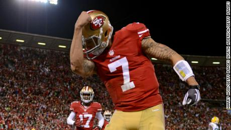 & # 39; Kaepernicking & # 39; refers to the act of the quarterback kissing the tattoos on his bicep to celebrate a touchdown
