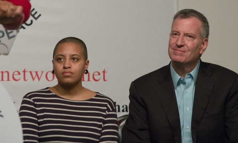 Chiara de Blasio arrested along with New York protesters for 'illegal assembly', sources say