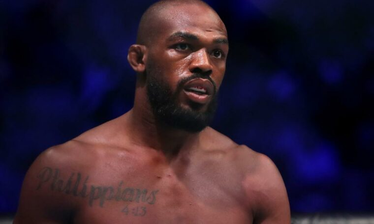 Jon Jones: UFC fighter takes aerosol cans from protesters