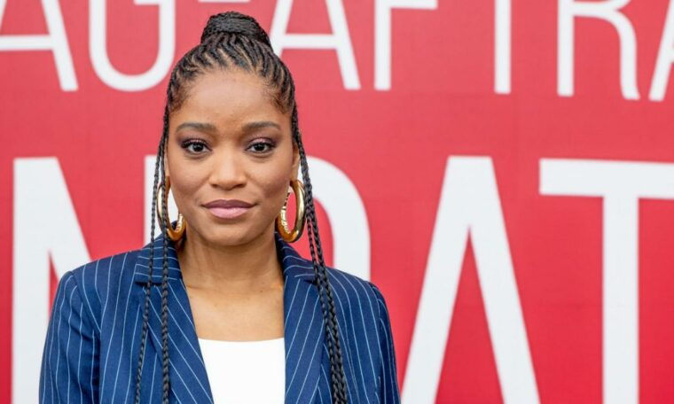 Keke Palmer tells the National Guard 'March with us' during a protest in Hollywood