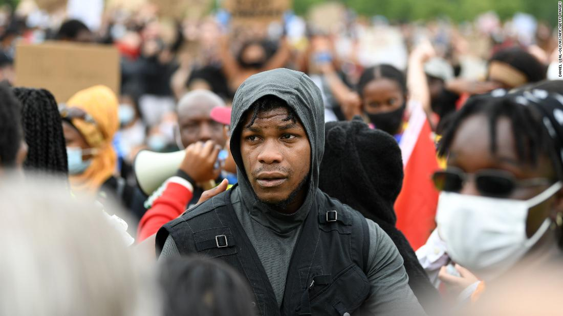 John Boyega tells London Black Lives Matter protesters: 'Now is the time'