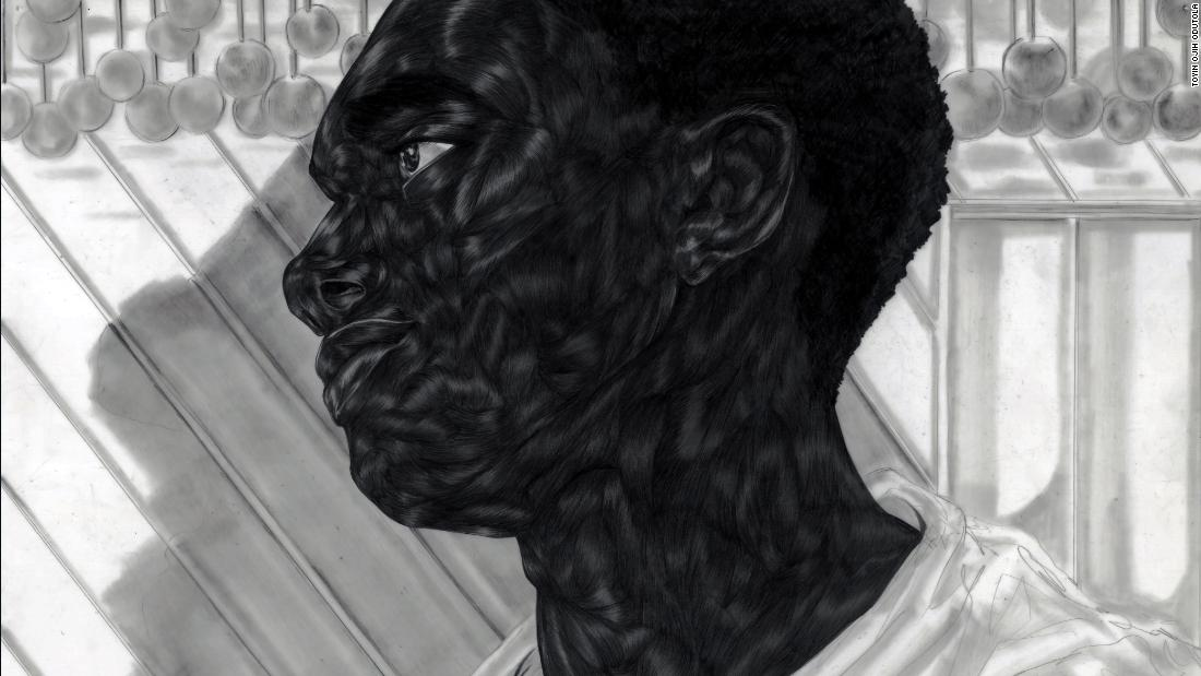 Artist Toyin Ojih Odutola in drawing intricate portraits of black life