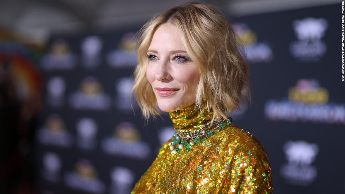 Cate Blanchett cut her head with a chainsaw during lockdown