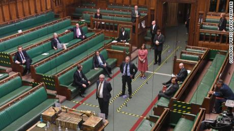 Lawmakers returned to the House of Commons to vote Tuesday.