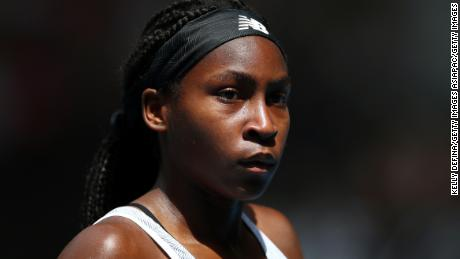 Coco Gauff has demanded changes and urged people to vote.
