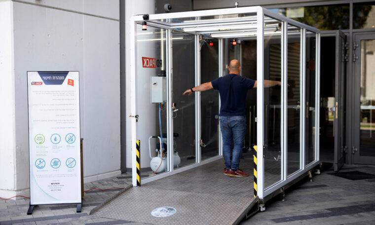 Israeli Stadium Deploys Disinfectant Tunnel Amid Coronavirus