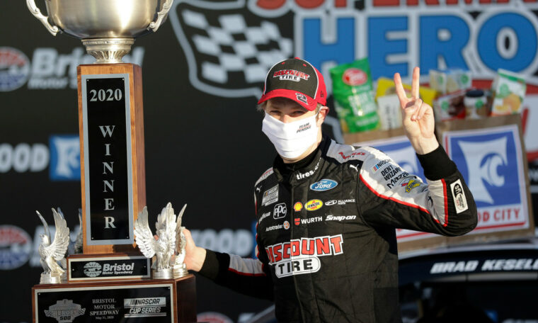 Late crash gives Brad Keselowski an unlikely victory at Bristol