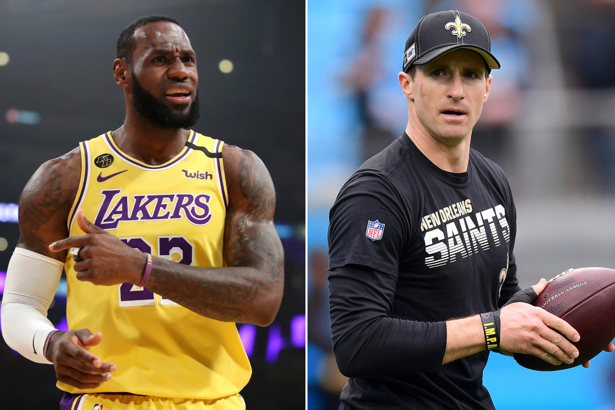 LeBron James leads Drew Brees' backlash after kneeling controversy breaks out