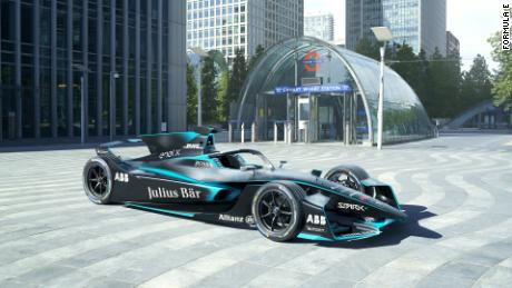 Formula E Reveals New Shark Fin Car Design