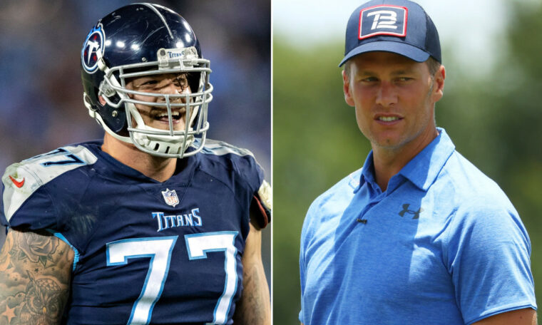 Taylor Lewan jokes about the Titans' decision not to sign Tom Brady