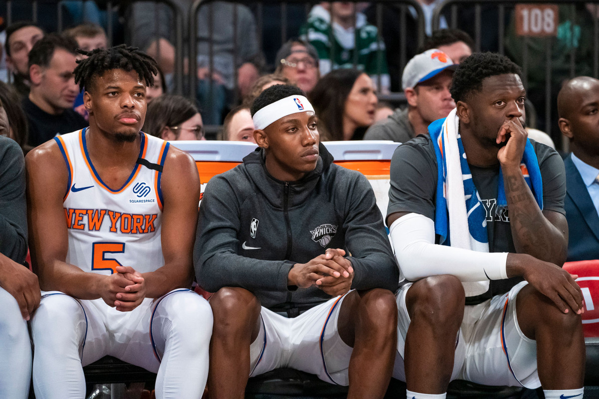 The Knicks follow the example of their players with the publication of BlackOut Tuesday