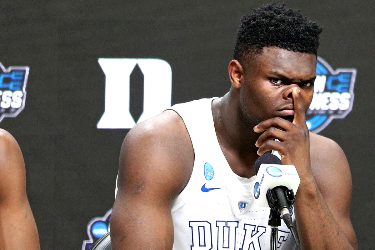 Zion Williamson has to answer questions about Duke's inappropriate benefits