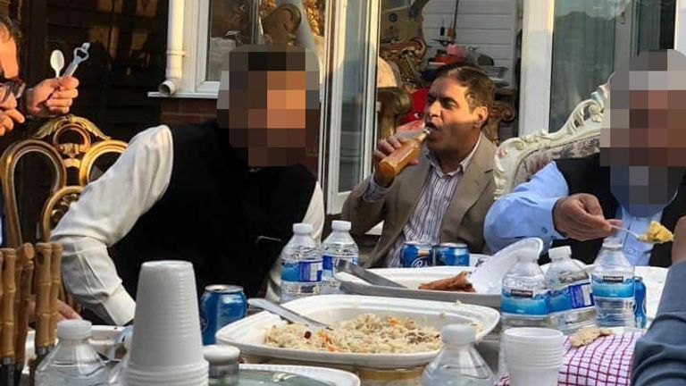 Councillor Waheed Akbar was at the party of about 12 men
