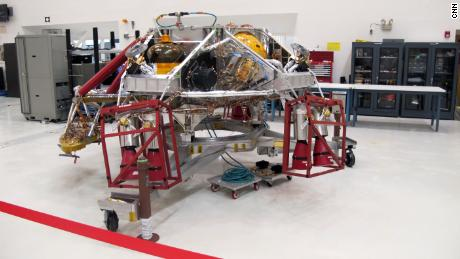 Another December 27 view of the Mars rover as crews prepare it for mission.