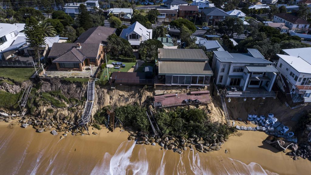 Residents in Wamberal, on the NSW Central Coast, have been evacuated from their beachside homes which are at risk of being swallowed by the Pacific. Picture: NCA NewsWire / Darren Leigh-Roberts