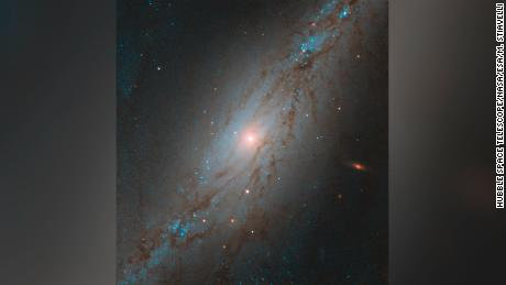Hubble spots galaxy moving away from us at 3 million miles per hour