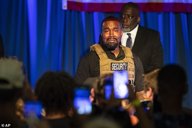 Private matter: Kanye revealed during his presidential rally last week he considered aborting daughter North West
