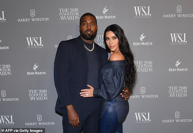 'Thank you for always being there for me': Kanye ultimately issued a grovelling apology to Kim on Twitter last week, where he acknowledged he had hurt her (pictured 2019)