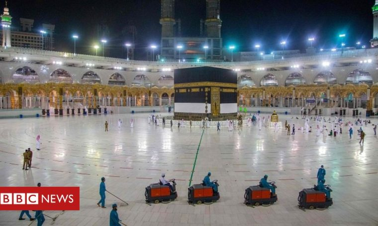 Coronavirus: Scaled back Hajj pilgrimage due to start in Saudi Arabia