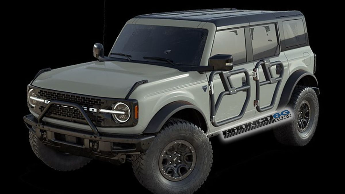 Hacked URL Codes Reveal The 2021 Ford Bronco's Optional Tube Doors