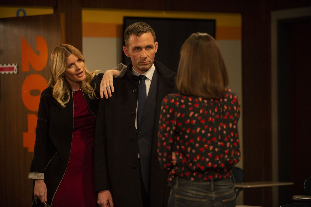 Michelle Stafford, James Patrick Stuart, and Katelyn MacMullen on 'General Hospital'
