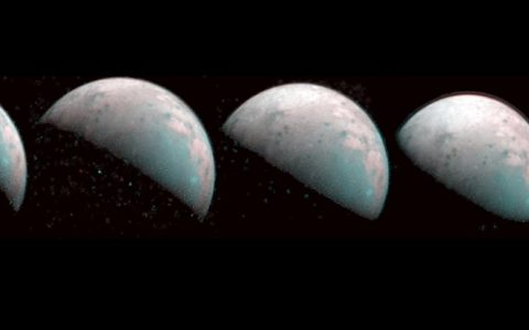 Juno Delivers First Images of The North Pole of Ganymede, Where It Rains Plasma