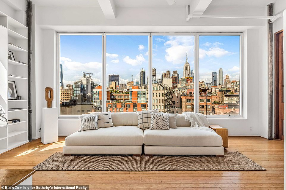 Wow: Susan Sarandon lived in the massive pre-war duplex in Chelsea for 29 years. And the Oscar winning actress has put her her New York City home, which spans 6,061 square feet and two floors, on the market for $7.9 million