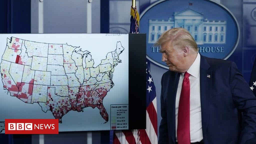 Trump scraps Republican convention in virus 'flare-up'