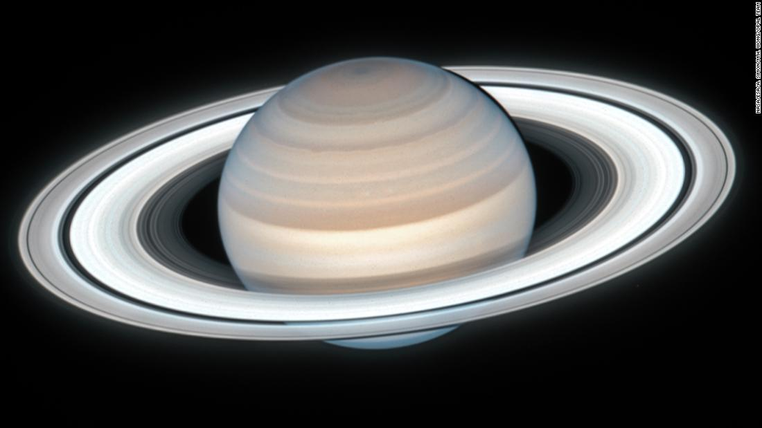 Images of Saturn in summertime captured by Hubble Space Telescope