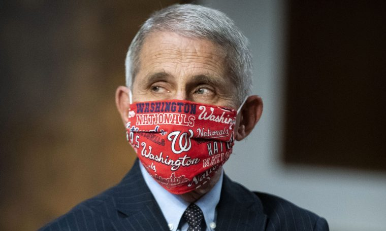 Dr. Anthony Fauci, the nation's top infectious disease expert, arrives for a hearing in Washington, DC, on June 30.
