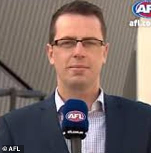 Football reporter Mitch Cleary was stood down indefinitely by AFL Media