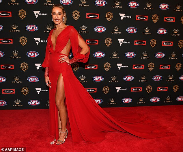 Brooke Cotchin's day spa visit saw the Richmond Tigers slapped with a $45,000 fine. Ms Cotchin is pictured at the 2018 Brownlow Medal
