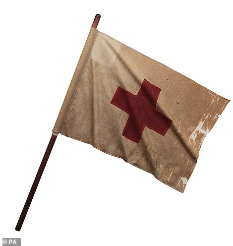 A Red Cross flag which was carried during the Franco-Prussian War of 1870