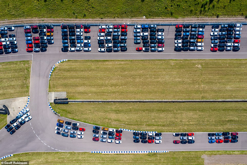 The cars are being stored at the former Rockingham Motor Speedway track in Corby, Northamptonshire