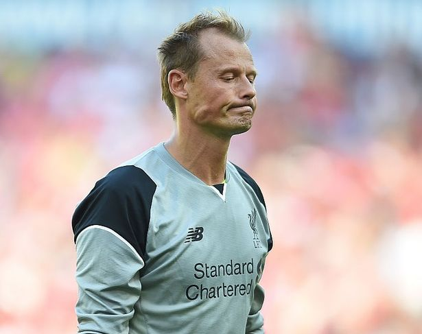 Alex Manninger of Liverpool during the defeat