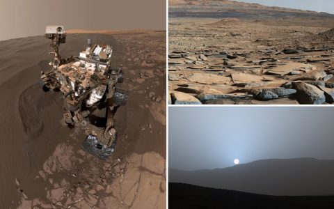 Mind-blowing pics from surface of Mars taken by Curiosity – as Nasa celebrates rover's 8th anniversary on Red Planet