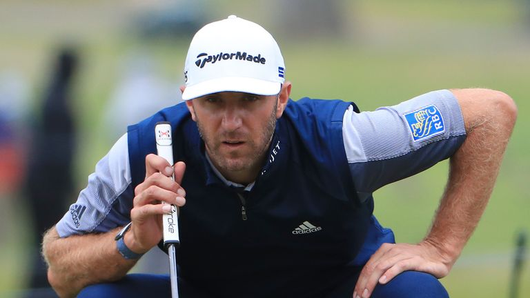 Dustin Johnson had to settle for joint runner-up with Casey