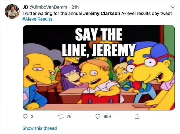 Many Twitter users have caught on to Clarkson's yearly tweet and have posted memes making fun of it